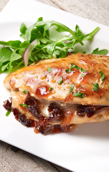 Plum and Brie Stuffed Chicken