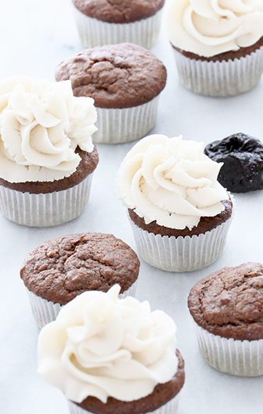 Chocolate Prune Cupcakes