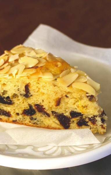 Prune Yogurt Almond Cake