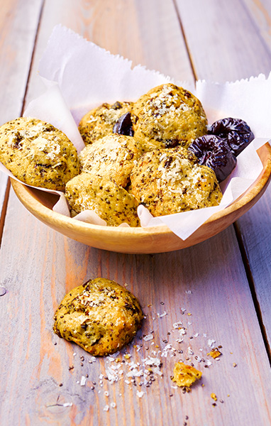Savory Prune Cheese Cookies with Chia Seeds